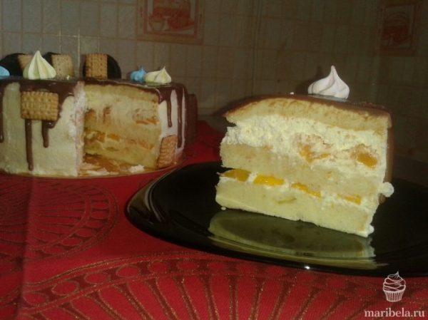 Рецепт лёгкого йогуртового крема для бисквитного торта в