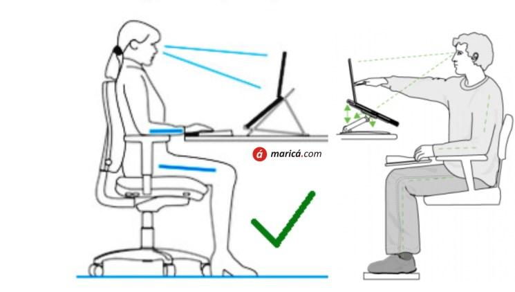 Postura correta no home office