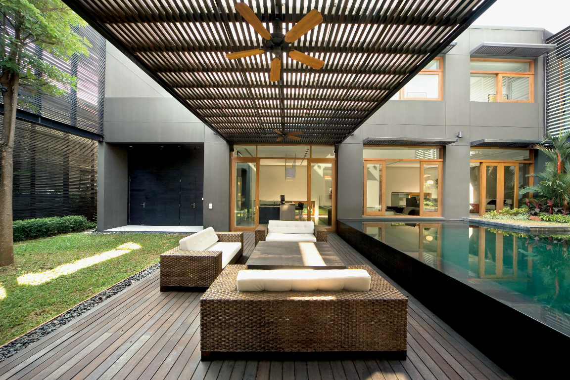 Residential Design Inspiration: Modern Pool Canopy ... on Modern Backyard Ideas With Pool id=31377