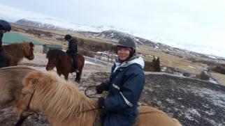Reykjavik, Iceland - riding on a Viking horse
