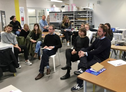 Prof. Alexander Tibus (BAU Berlin), Katrin Smejkal (Brainds), Prof. Kriso Leinfellner