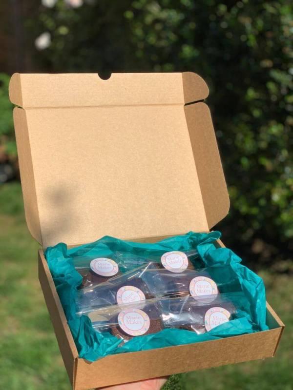 Chocolate Brownies Delivered Milton Keynes Compostable Packaging