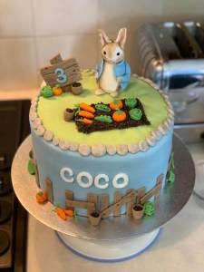 Peter Rabbit Childrens Birthday Cake Marie Makes