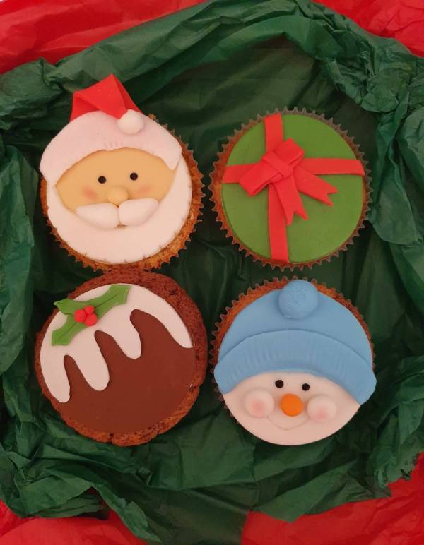 Christmas Cupcakes Santa Pudding Snowman Present Marie Makes Milton Keynes