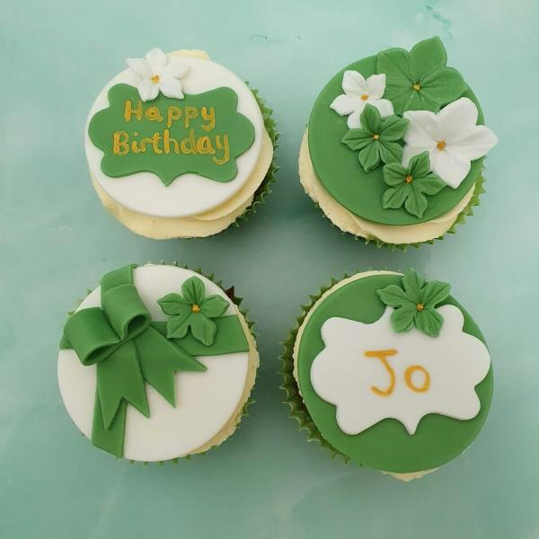 Green Birthday Cupcakes Delivered Milton Keynes