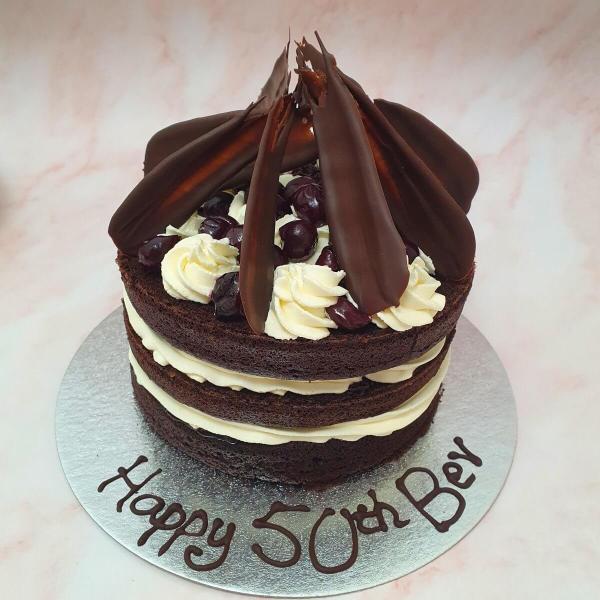 Personalised Black Forest Birthday Cake Delivered Milton Keynes