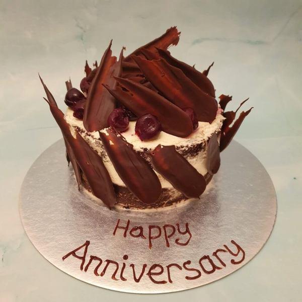Personalised Black Forest Anniversary Cake Delivered Milton Keynes