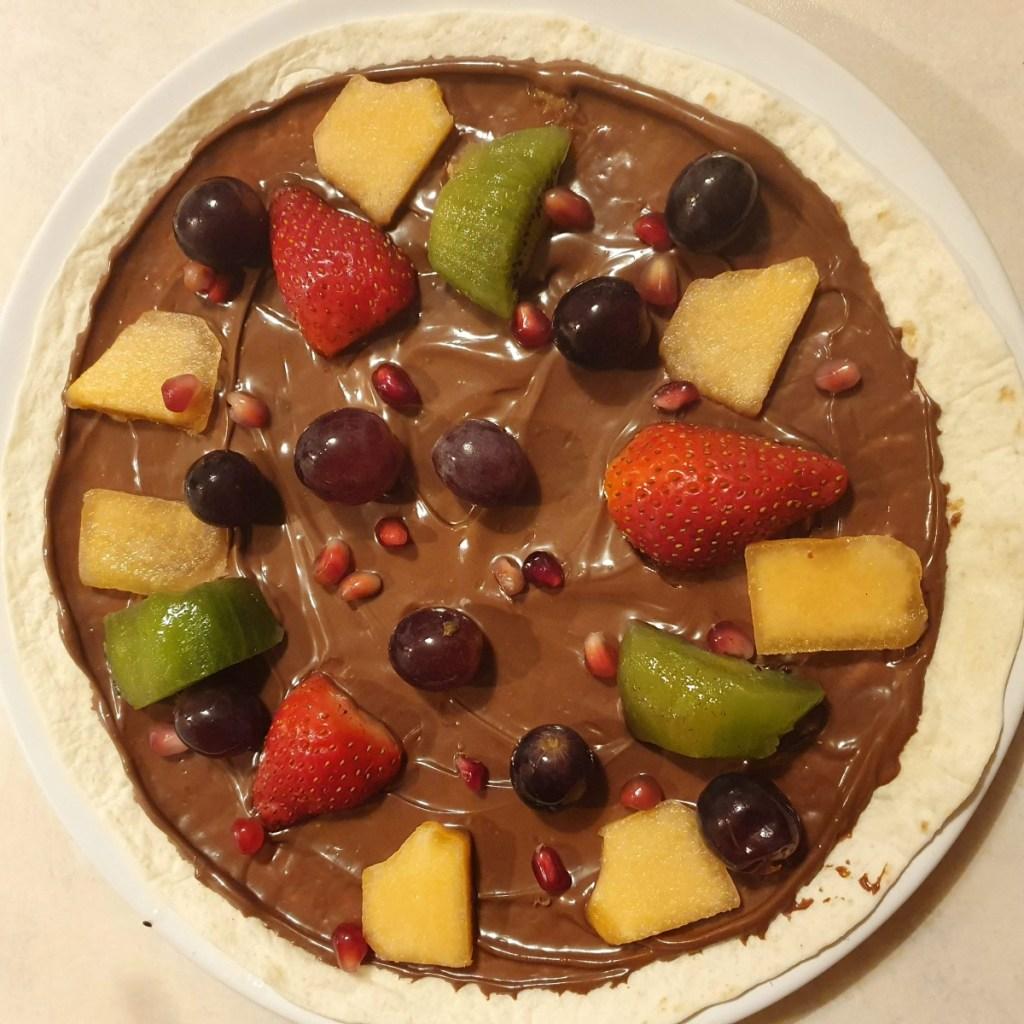 Easy baking for kids fruit pizza