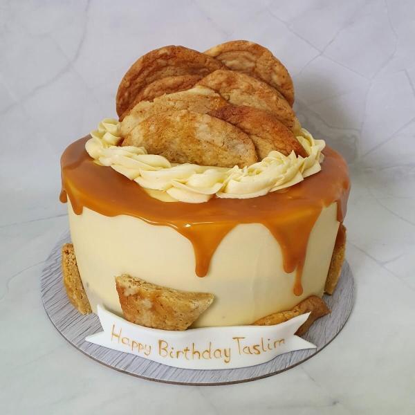 Caramel Cookie Birthday Cake Delivered Milton Keynes Marie Makes