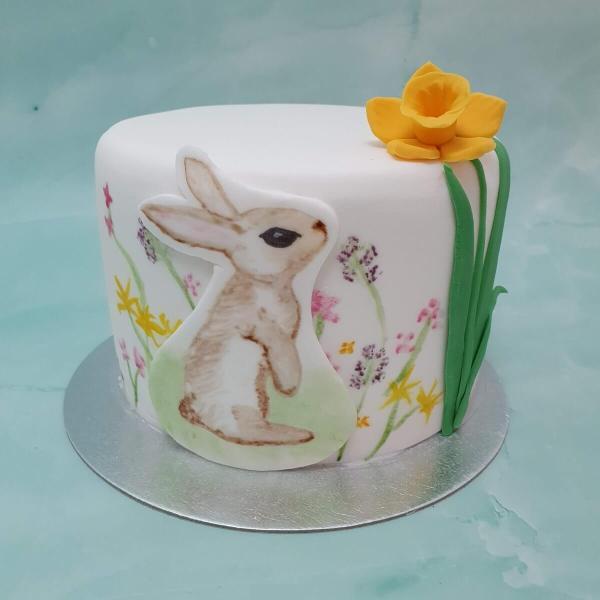 Hand-Painted Easter Cake Delivered Milton Keynes