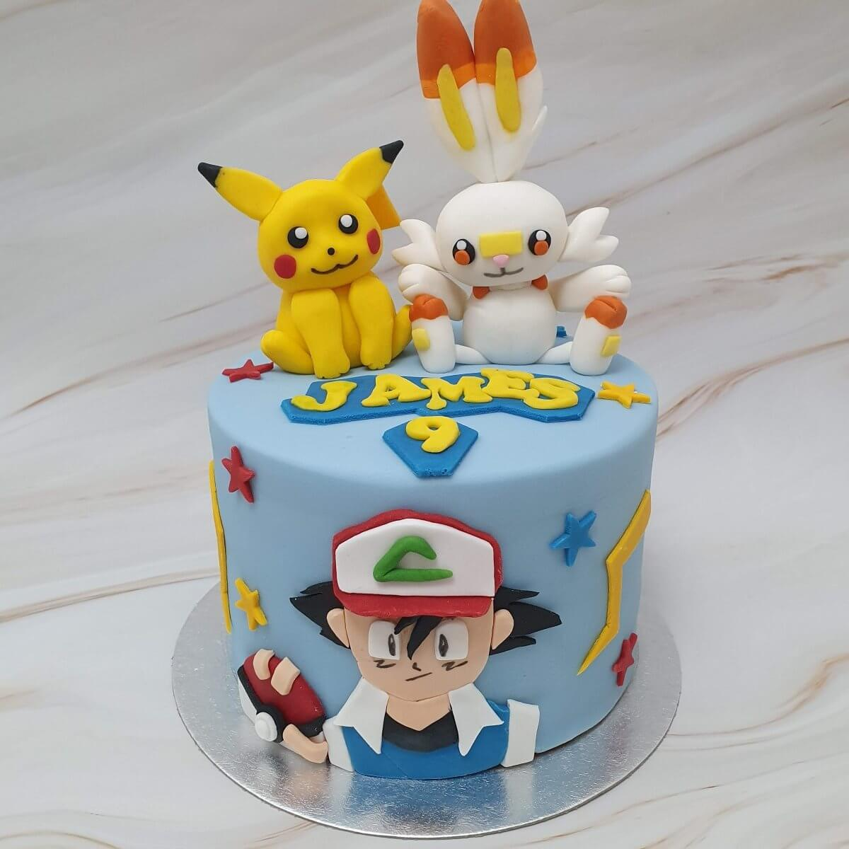 Pokemon Bespoke Children's Birthday Cake Delivered Milton Keynes