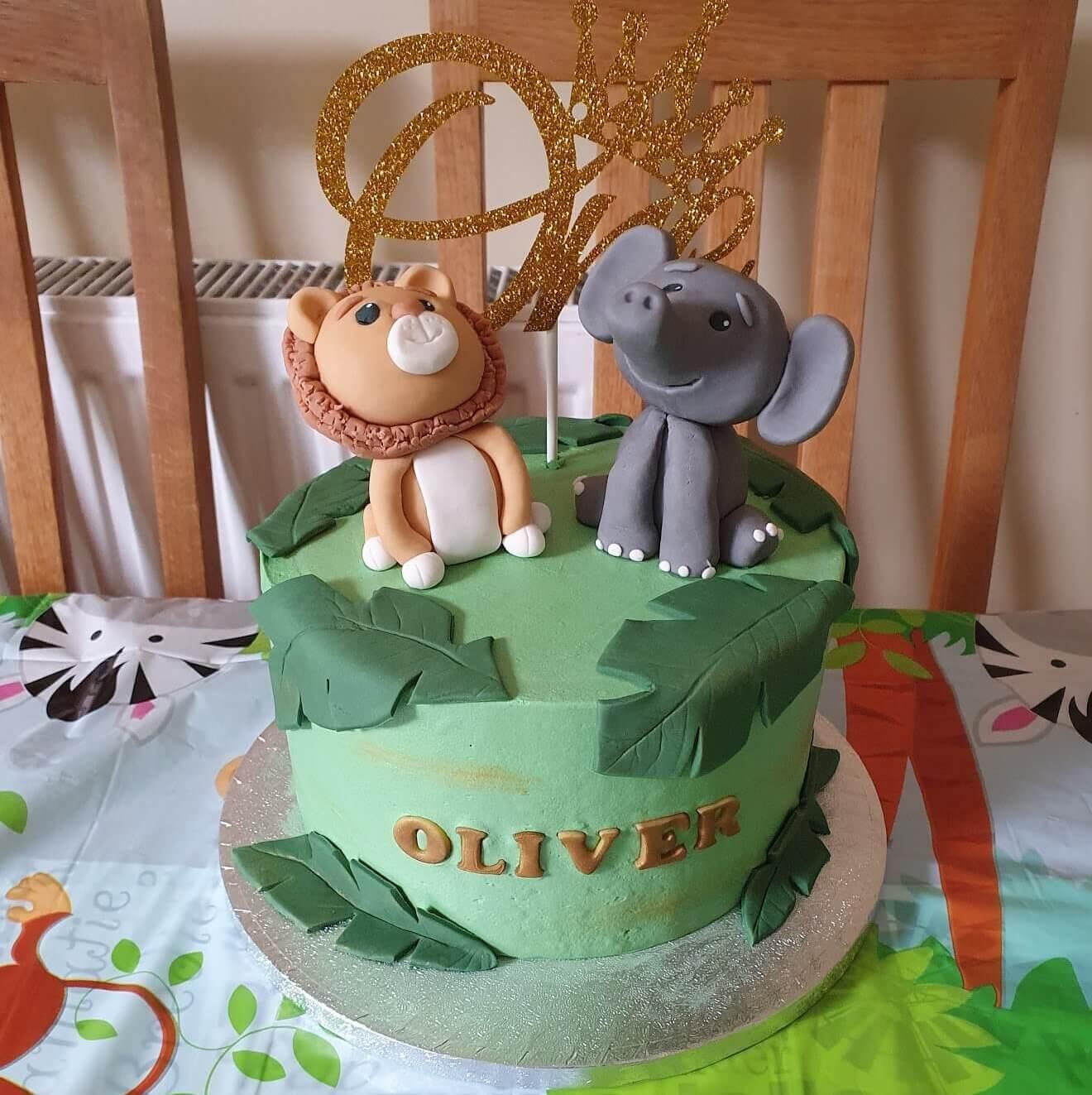 Animal cake lion Elephant Children Cake