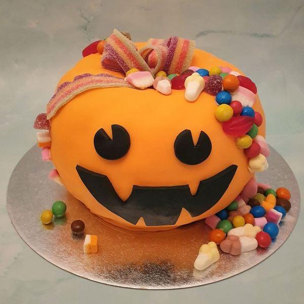 Halloween Pumpkin Shaped Sweets Cake Delivered Milton Keynes Cake Maker