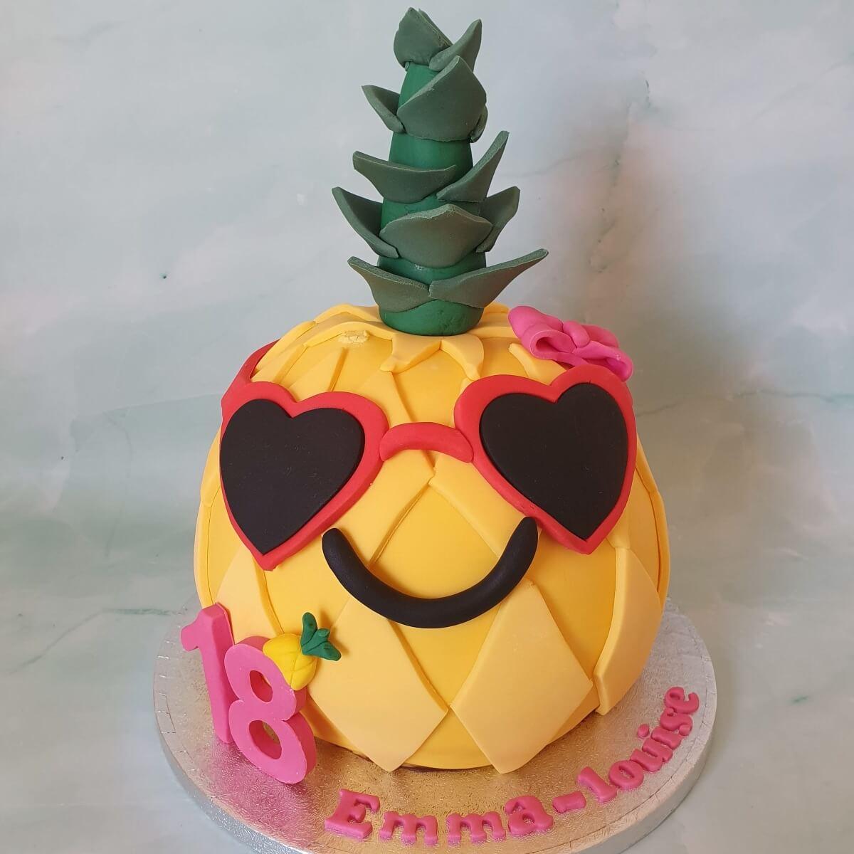 Pineapple 3D Shaped Birthday Cake Delivered Milton Keynes Cake Maker
