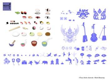 Réalisation de pictos et d'illustrations pour le musée des Arts Asiatiques Guimet