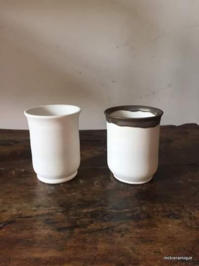 gobelets, porcelaine