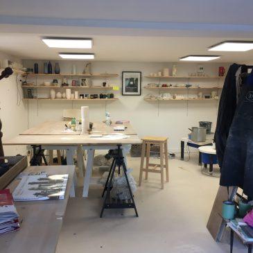 vue 2 de l'atelier marie-caroline lemans céramique