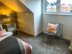 Springfields Show Homes Bedroom designed by Marie Charnley Interiors
