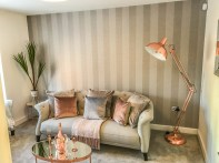 Springfields Show Homes Living Space designed by Marie Charnley Interiors