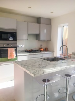 Springfields Show Homes Kitchen designed by Marie Charnley Interiors