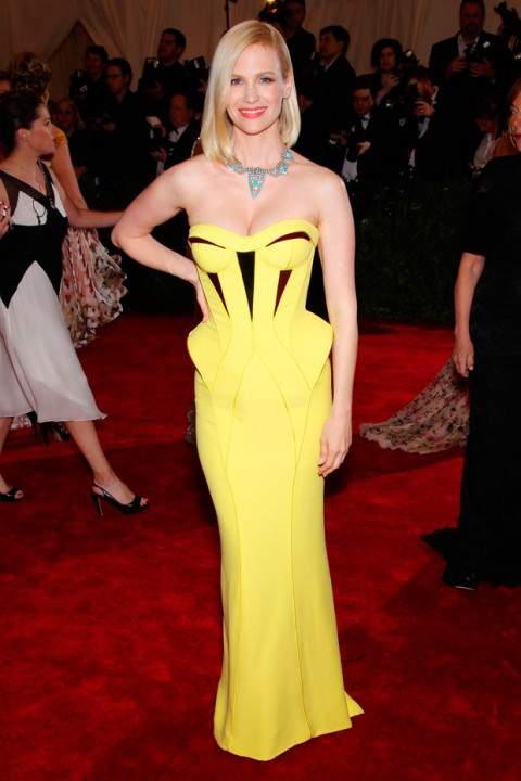 January Jones at the Met Ball 2012 - Costume Institute Gala - Marie Claire