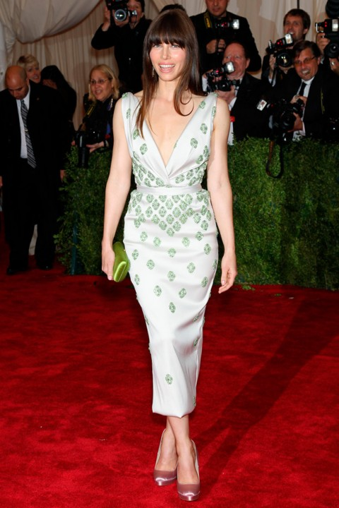 Jessica Biel at the Met Ball 2012 - Costume Institute Gala - Marie Claire