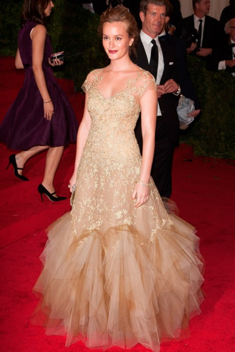 Leighton Meester at the Met Ball 2012 - Costume Institute Gala