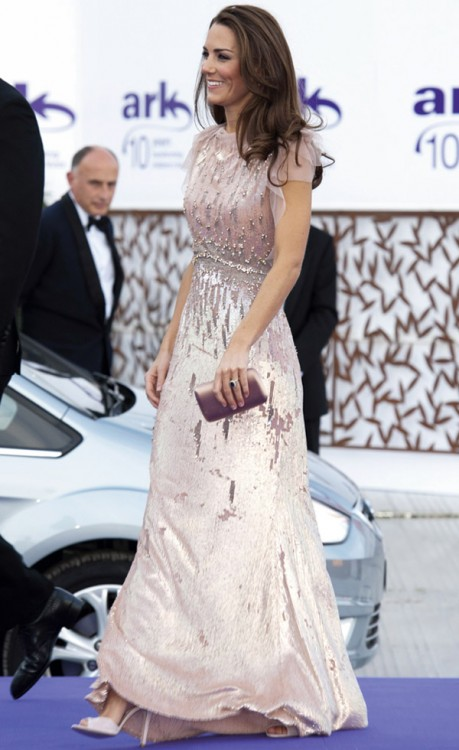 Kate Middleton wearing Jenny Packham dress at the ARK Gala Dinner 2011