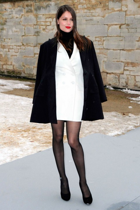 Laetitia Casta at Couture Fashion Week spring/summer 2013 in Paris
