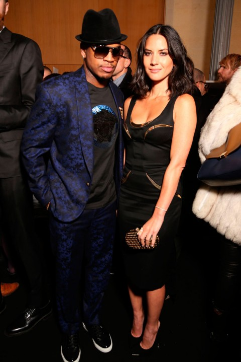 Ne-Yo and Olivia Munn at Couture Fashion Week spring/summer 2013 in Paris