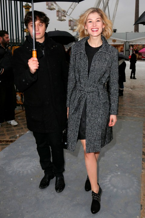 Rosamund Pike at Couture Fashion Week spring/summer 2013 in Paris
