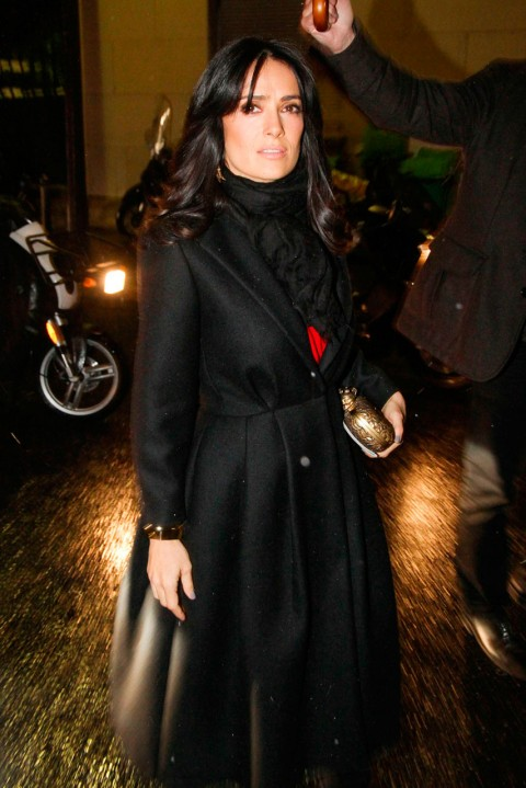 Salma Hayek at Couture Fashion Week spring/summer 2013 in Paris