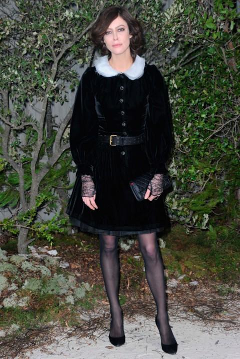 Anna Mouglalis at Couture Fashion Week spring/summer 2013 in Paris