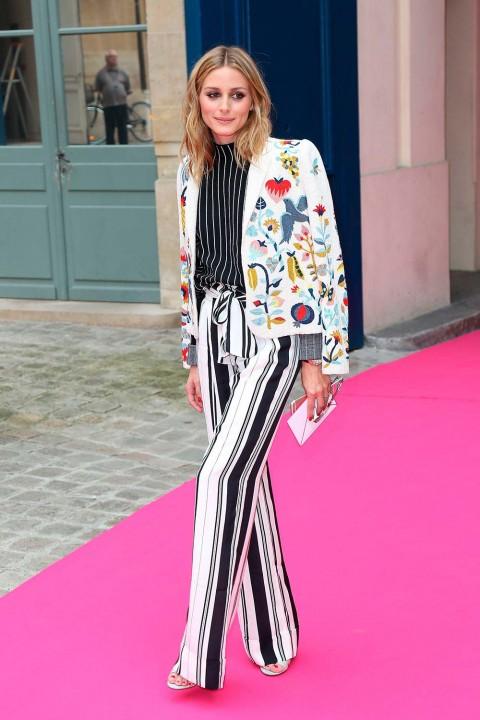 Olivia Palermo at Schiaparelli during Paris Couture Fashion Week July 2016