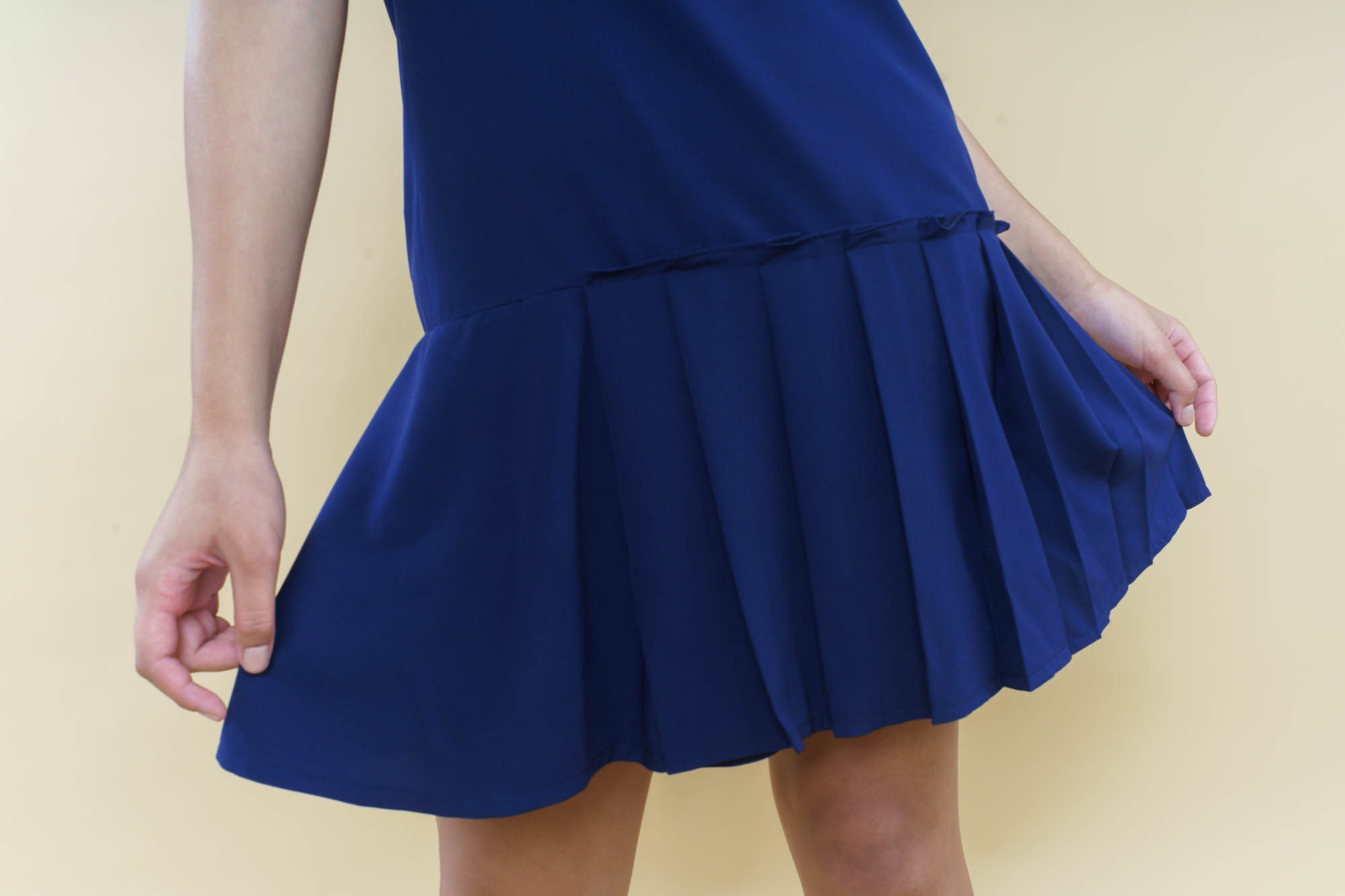 ruffles on the hemline