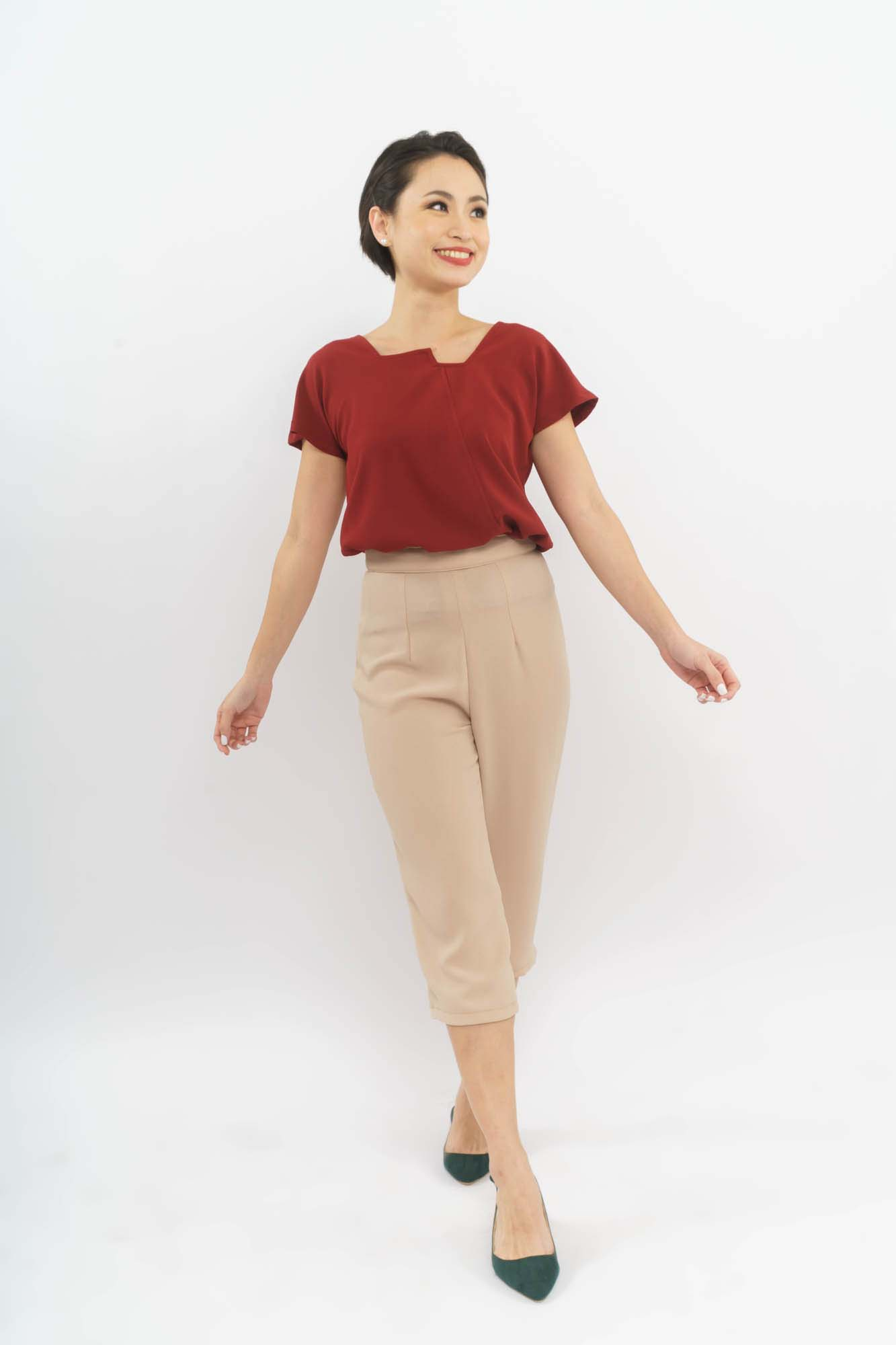 pairs well with Celina trousers in Nude