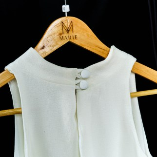 with back zipper