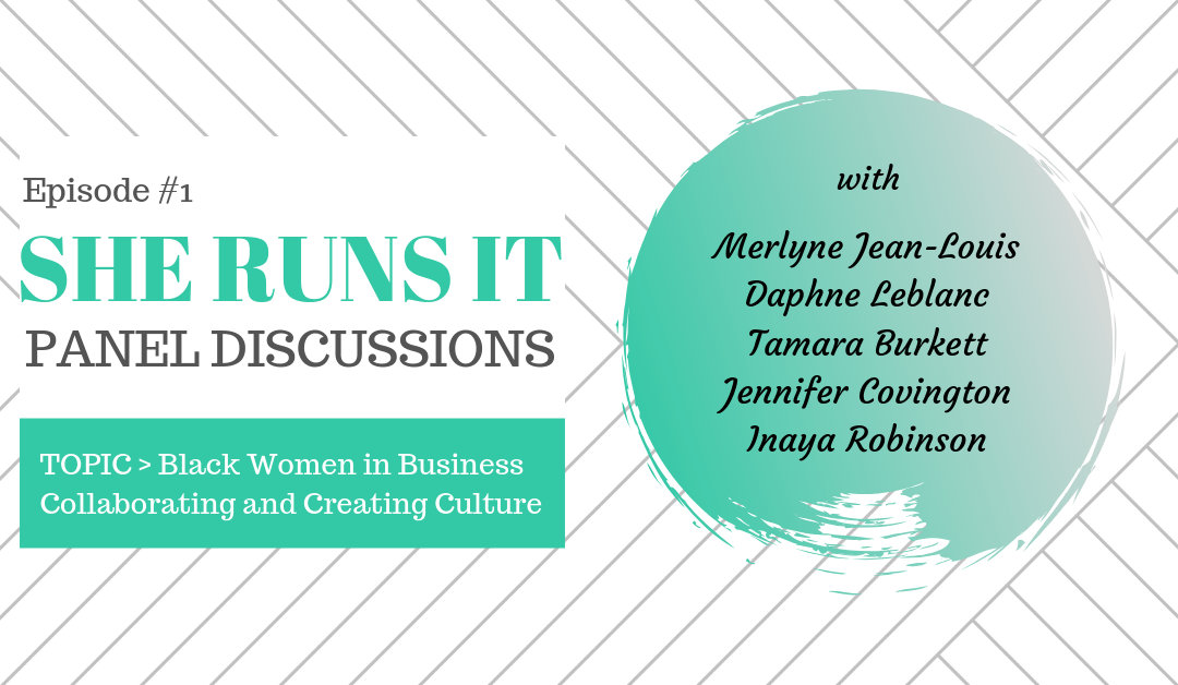This is a Woman of Color panel interview with five dynamic black women business owners sharing experiences of being in business in a male dominated world