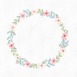 Tutorial : How to paint a floral wreath with Procreate ? Comment peindre une couronne de fleurs avec Procreate ?