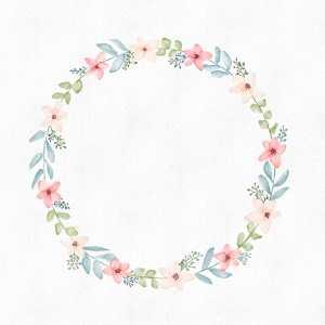 Read more about the article Tutorial : How to paint a floral wreath with Procreate ? Comment peindre une couronne de fleurs avec Procreate ?
