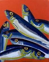 80x100cm - Pyramide de sardines