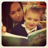 Judah reading with Alexis