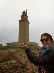 Hércules Tower in la Coruña, still functioning as a lighthouse - Spain