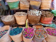 Colorful spices in a street market - Marrakech