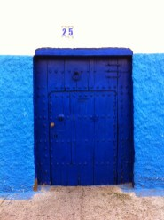 Traditional blue door in the kasbah - Rabat