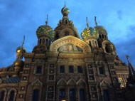 Church of the Savior on Spilled Blood at night