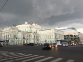 Storm is approaching near the Mariinsky theater