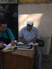 Street typewriter