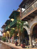 Cartagena - colorful wooden balconies