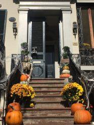 Halloween decorations in Georgetown